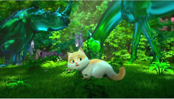 《猫与桃花源》再曝父子版海报预告 上演肥猫老爸毯子萌趣寻仔记