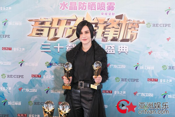 电子唱作人尚雯婕强势领跑音乐先锋榜 囊括四项极具份量大奖