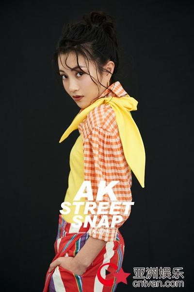 包文婧全新时尚大片 跳跃色彩演绎戏剧张力
