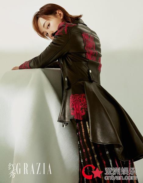 蓝盈莹完美驾驭不羁时尚风  造型前卫演绎率性短发魅力