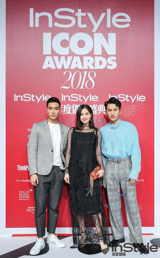 唐德艺人顾佳、施泽浩、敖梧城亮相2018 InStyle Icon Awards 年度偶像盛典