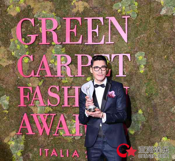 胡兵着环保礼服亮相绿毯盛典 传递环保时尚新态度
