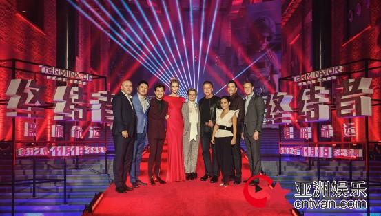 《终结者:黑暗命运》北京首映 施瓦辛格领衔全员出动震撼集结