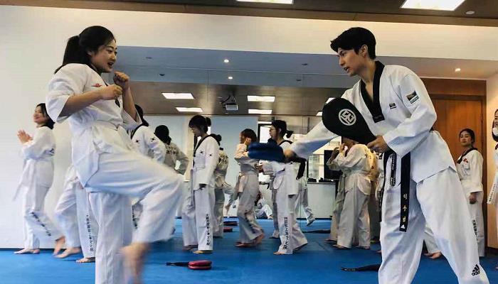 驻上海韩国文化院2019年跆拳道讲座圆满结业