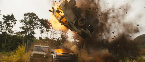 《速度与激情9》曝光新剧照!卡车翻滚雷区轰炸惊爆眼球